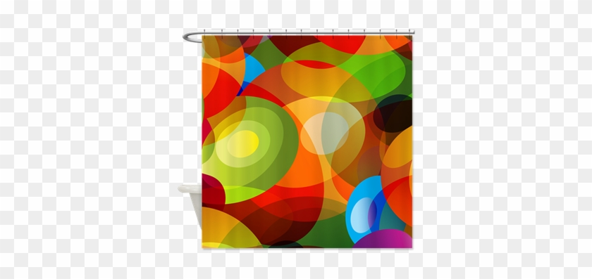 Retro 60s Abstract Shower Curtain - Retro 60s Abstract Shower Curtain #291183