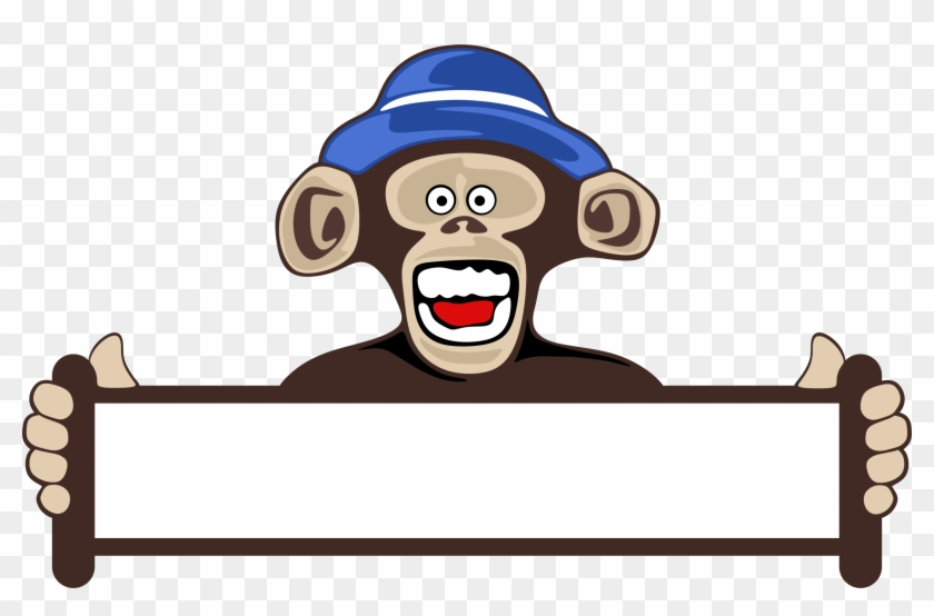 Monkey Holding Blank Sign - Funny Happy New Year 2018 - Free ...
