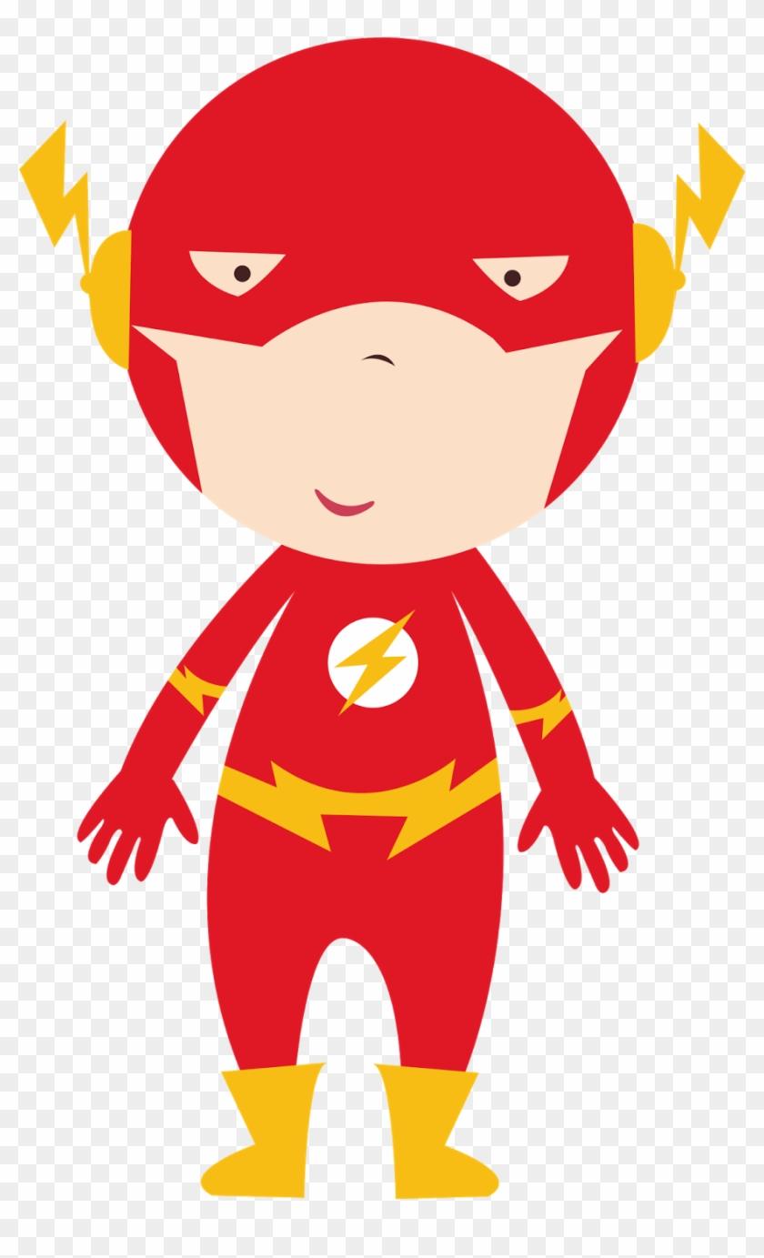 Flash Spider-man Batman Superhero Clip Art - Baby Super Heroes Png #291195