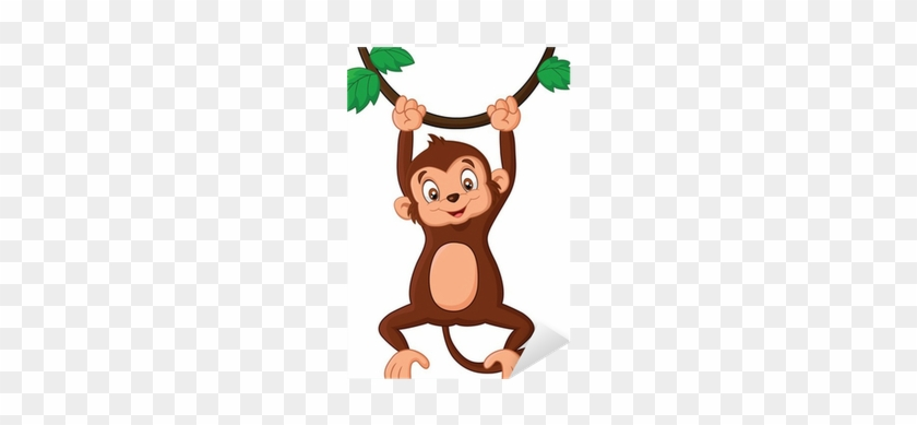 Cartoon Monkey Hanging On Tree #291242