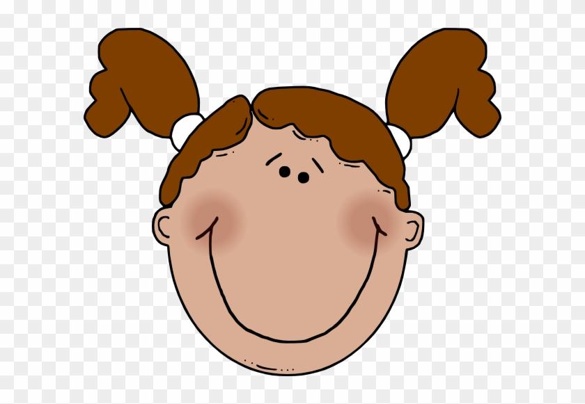Girly - Monkey - Clip - Art - Cartoon Girl Face #291273