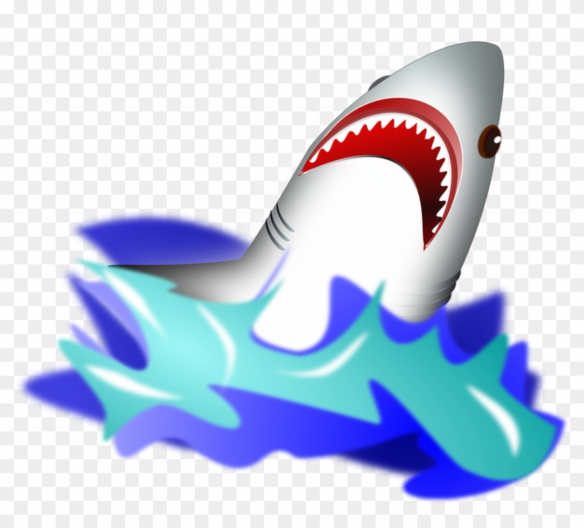 Shark Jumping Out Of Water Clipart #291285