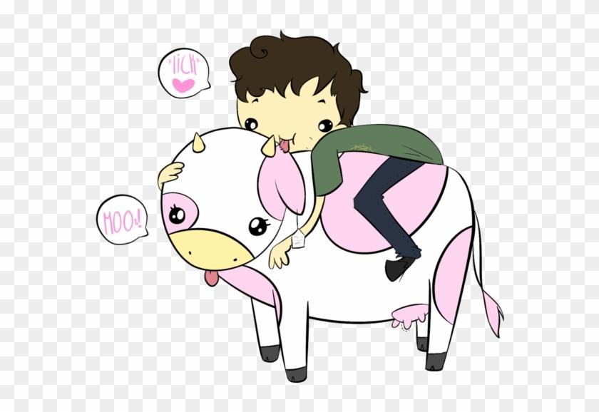 Cow Licker By Yogurtworm - Cartoon #291289