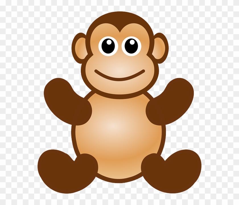 Happy Monkey, Ape, Animal, Toy, Cute, Happy - Monkey Face Cut Out #291300