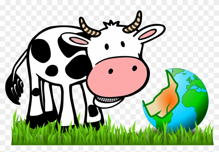"""Animated Cow Pictures 9, - Clean / Dirty (cow Black & White) 2.25"""" Magnet #291336"""