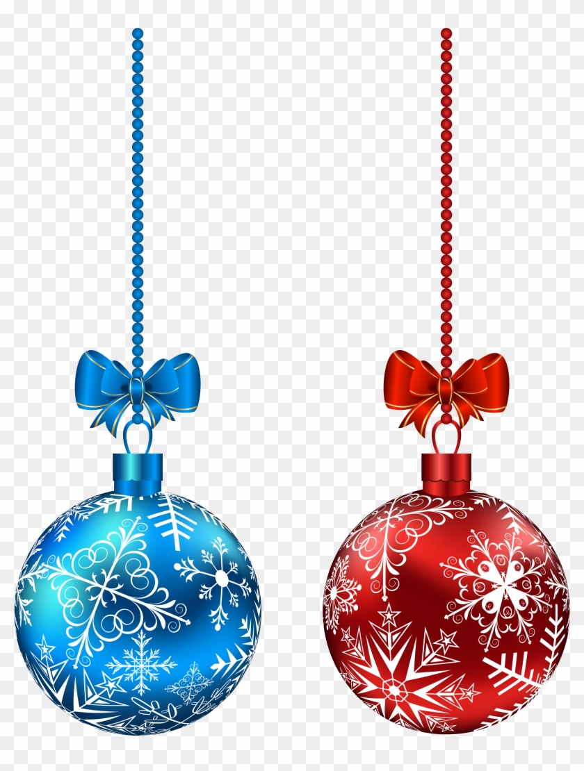 blue and red hanging christmas balls png clip red and blue christmas ornaments