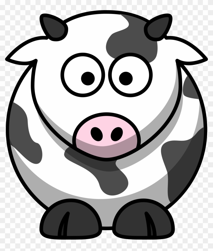 28 Collection Of Easy Cow Clipart - Cartoon Cow Png #291343