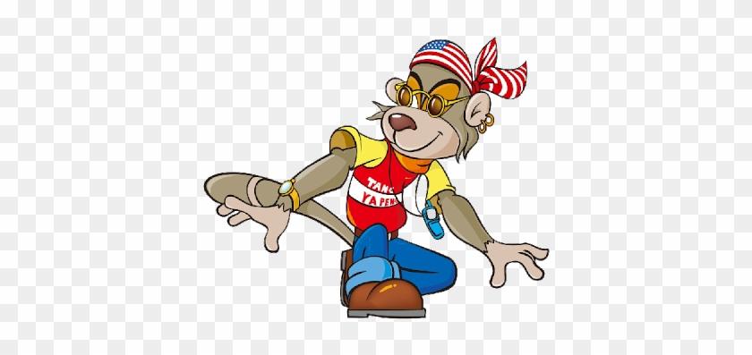 Cartoon Monkey Funny Images Clipart - Cartoon #291402