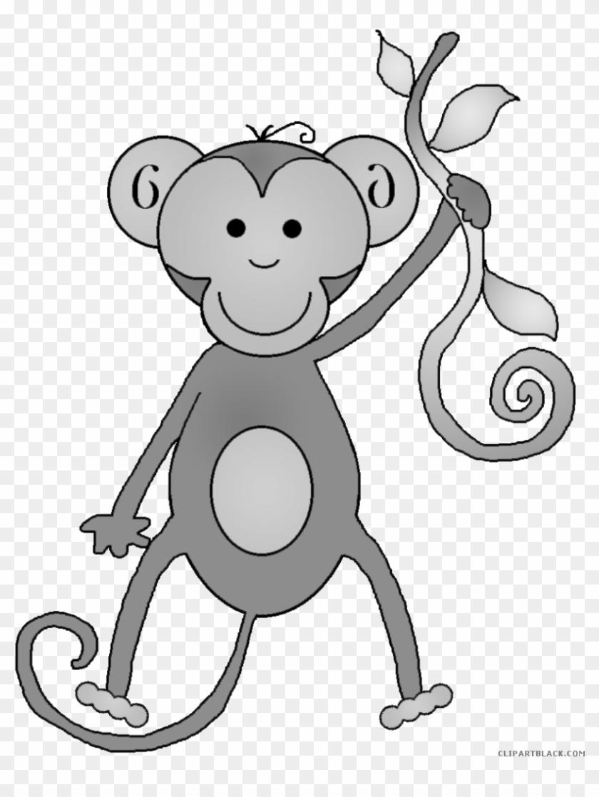 Monkey Animal Free Black White Clipart Images Clipartblack - You Wanna Monkey Around Yard Sign #291467