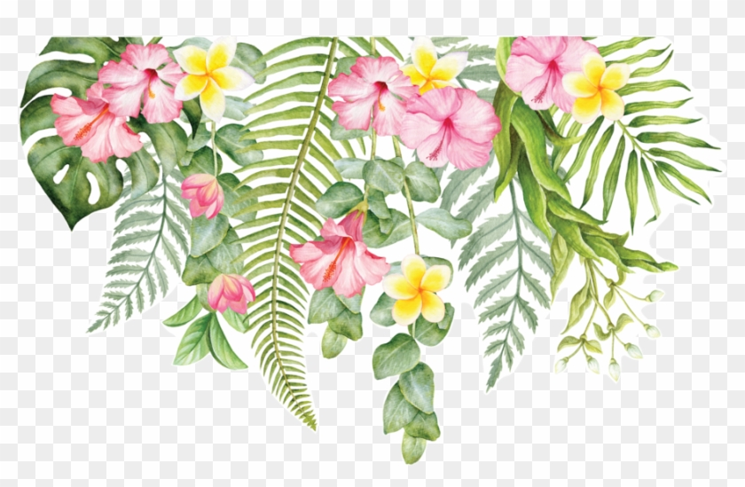 Individual Tropical Flowers For Greenery Wall Decal - Tropical Flowers Png #291480