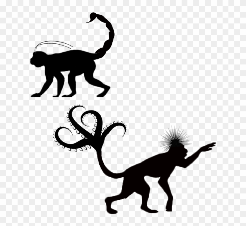 Insect Parts - Monkey Silhouette Png #291483