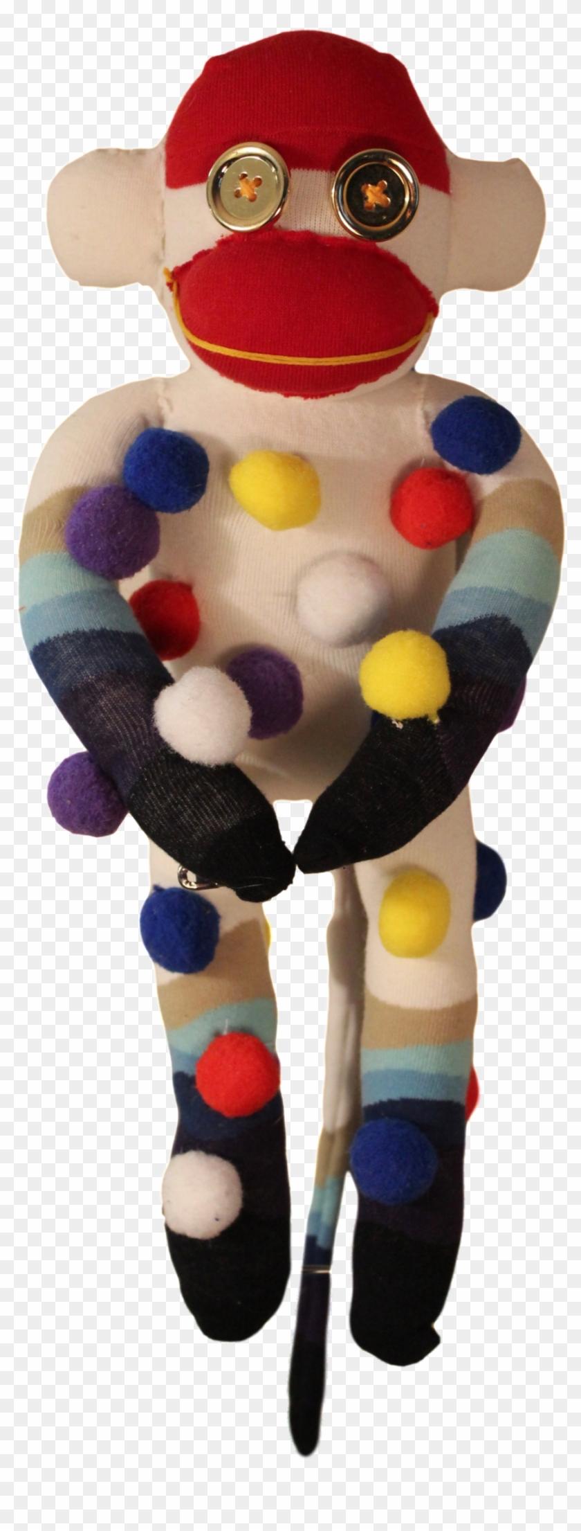 Handmade Sock Monkey Plush Toy With Funky Pattern Socks - Sock Monkey #291494