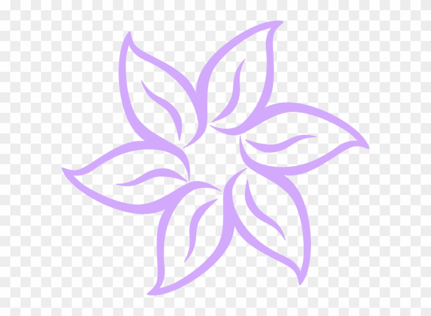 Purple Flower Clip Art At Clker Easy To Draw Flowers Free
