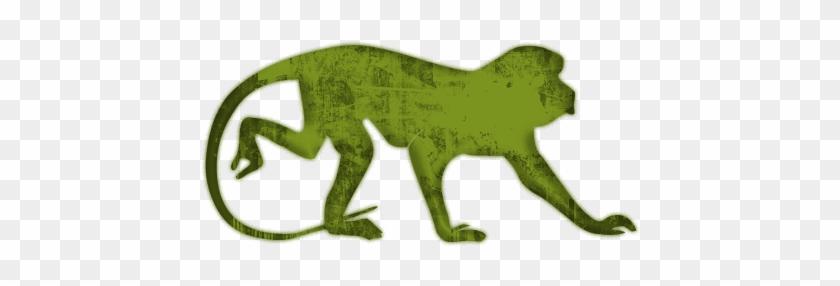 Green Grunge Clipart Icons Animals - Monkey #291514