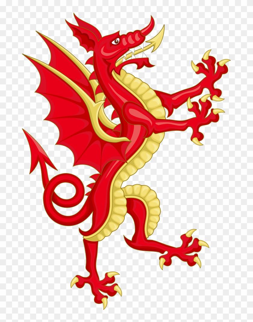Welsh Dragon Clip Art Medium Size - Wales Coat Of Arms #291517