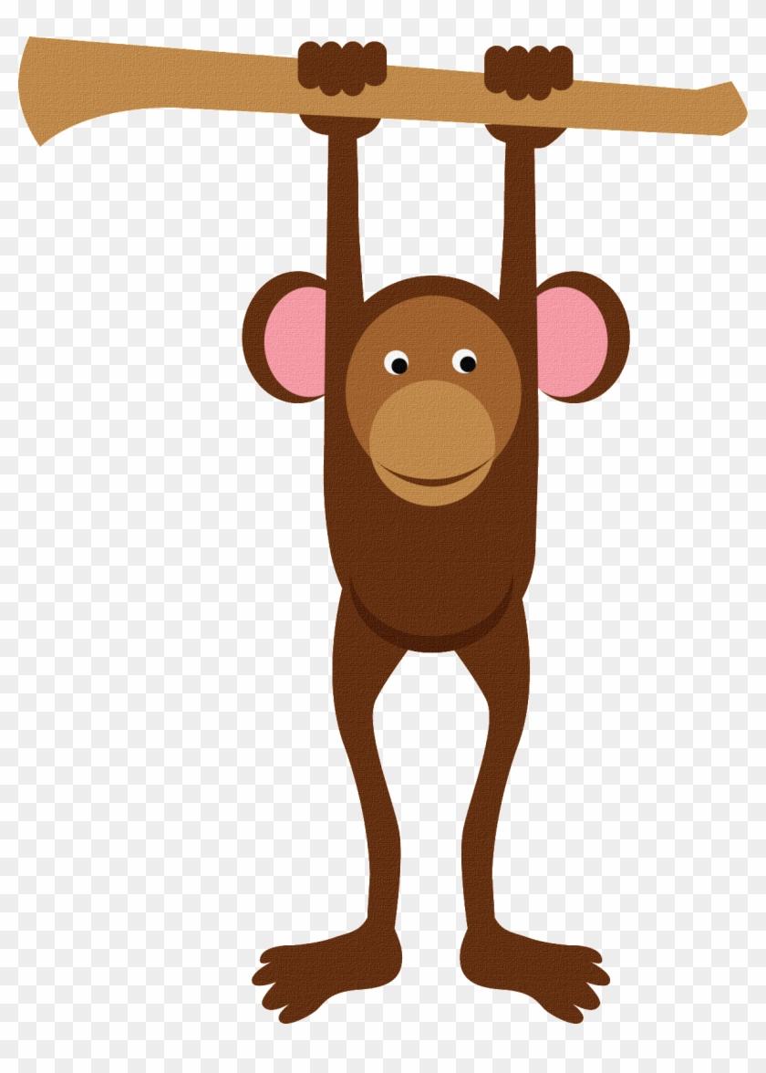 Baby Monkeys Baby Shower Clip Art - Monkey Hanging From Tree #291543
