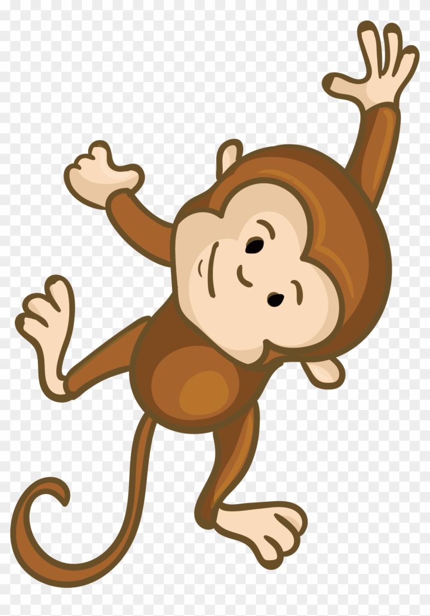 Monkey Clip Art - Cute Cartoon Monkey Png #291554