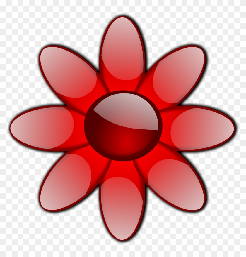 Red Flower Clipart Transparent Pencil And In Color - Flowers Clip Art #291559