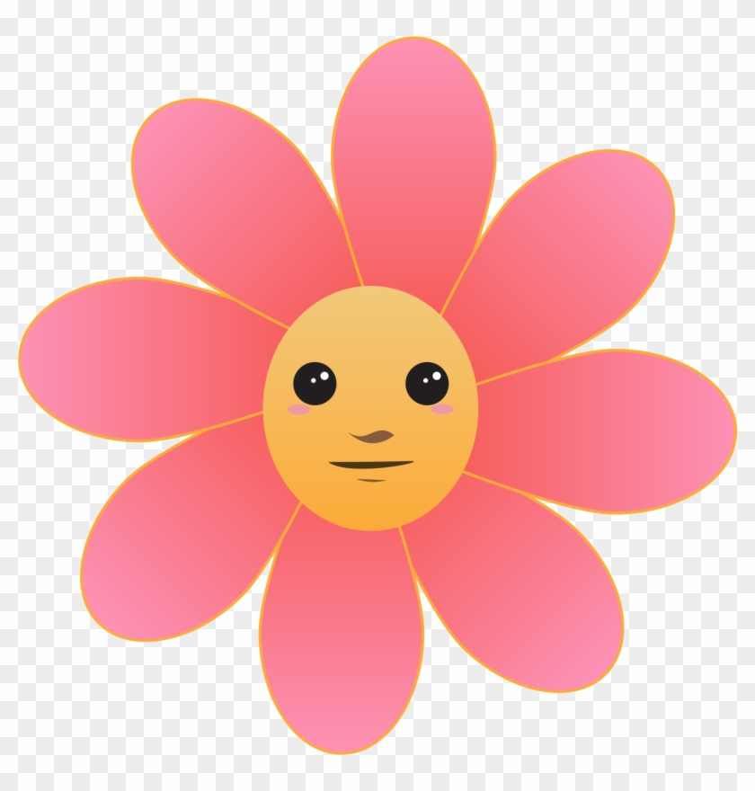 Red Flower Clipart Face - Flower Icon Png #291560