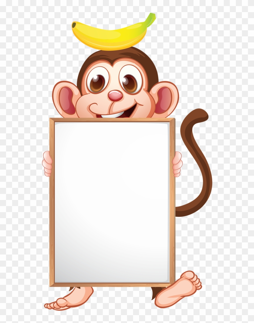 Monkey Craftsclip Art Schoolborder - Name Tag Template Animals #291563