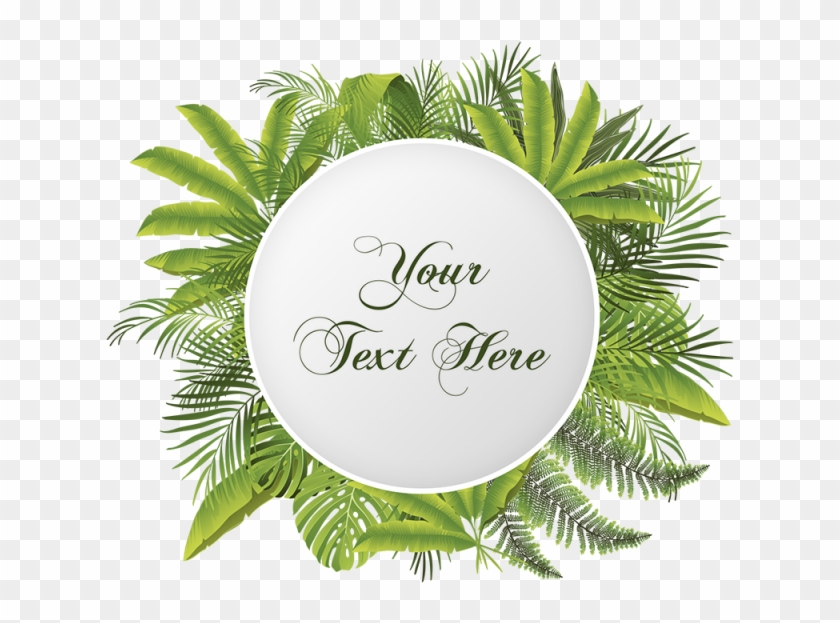 Tropical Floral Flower With Your Text Vector Png, Tropical, - New Year 2012 Greeting Cards #291595