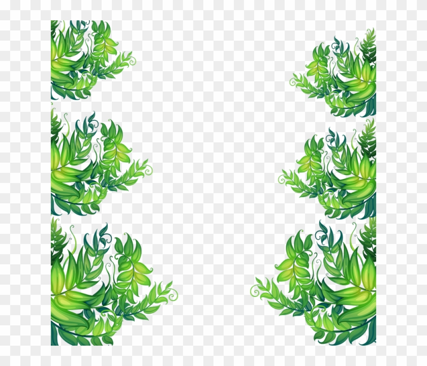 Tropical Painted Leaf Vector, Tropical, Flowers, Vector - Leave Vector Png Tropical Frame #291629