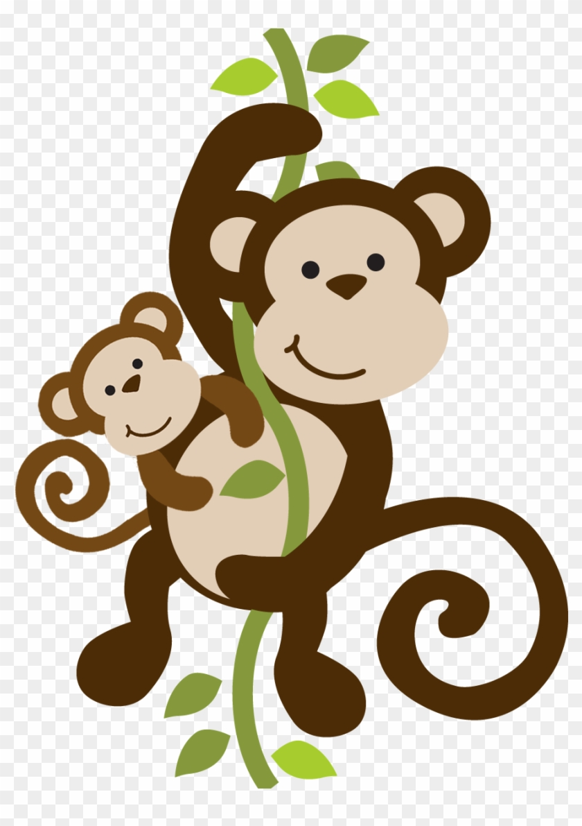 Mommy Clipart Baby Monkey - Mom And Baby Monkey Cartoon #291634