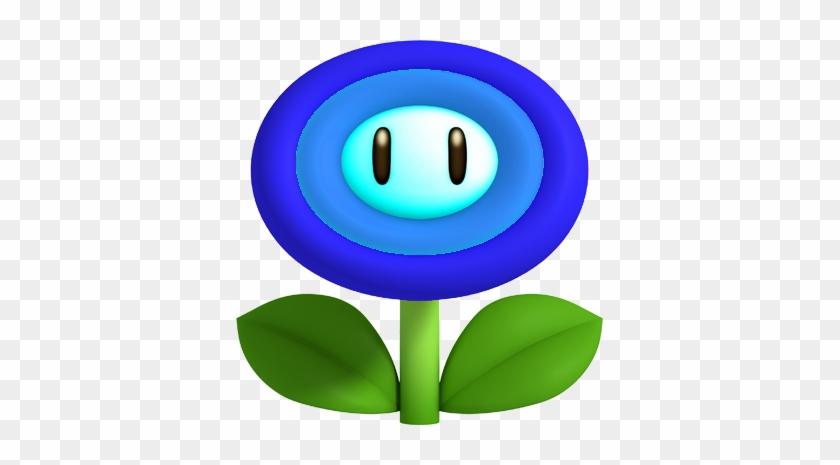 Water Flower By Machrider14-d5alkn3 - Mario Power Ups Flower #291640
