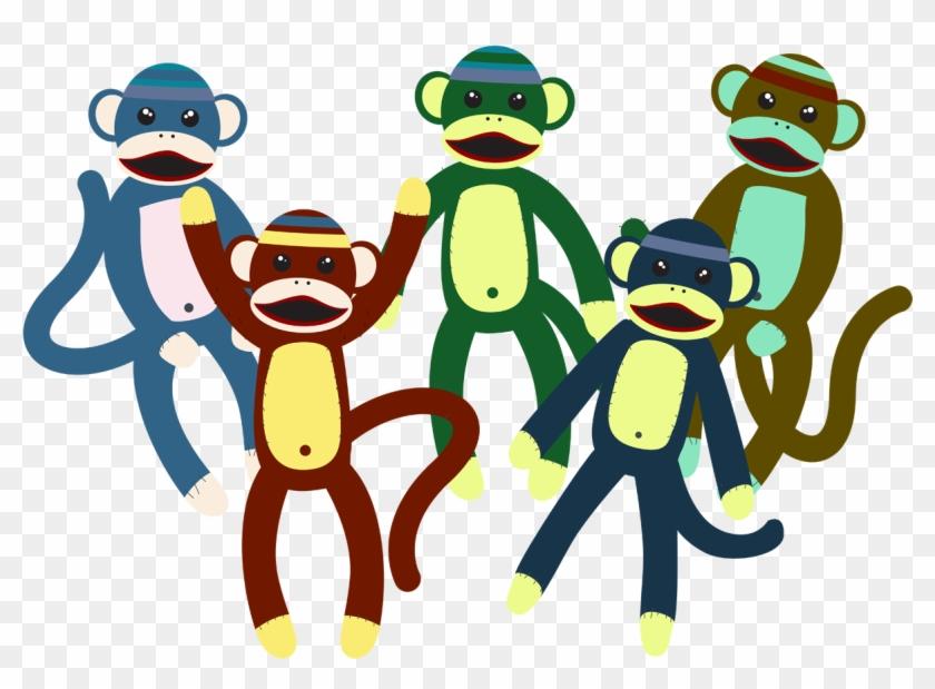 Cute Monkey Plush Toy Vector - Cute Monkey Plush Toy Vector #291702