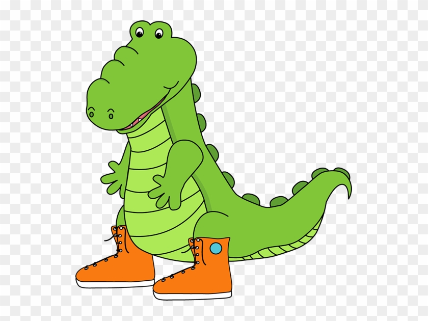 Alligator Wearing Sneakers Clip Art - Addition Subtraction Clip Art #291662