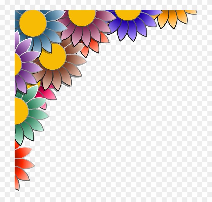 Daffodil Border Cliparts 7, Buy Clip Art - Bingkai Bunga Warna Warni #291672
