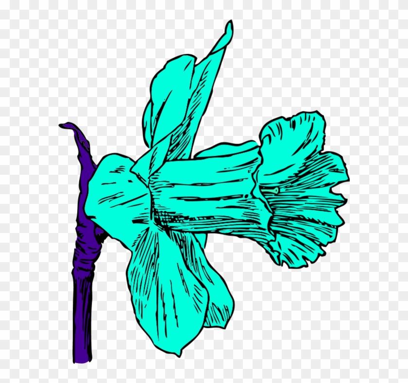 Daffodil Flower Clip Art - Daffodil Clip Art #291674