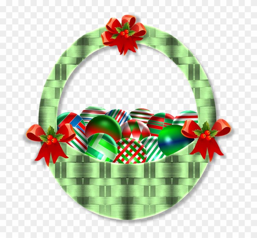 Daffodil Wreath Cliparts - Cesta De Natal Em Png #291681