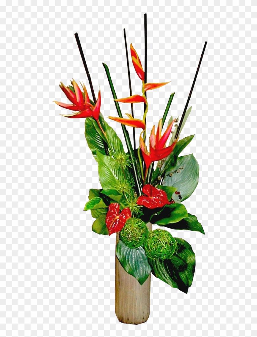 Tropical Arrangement In Stone Vase By Lilipilyspirit - Bouquet #291685