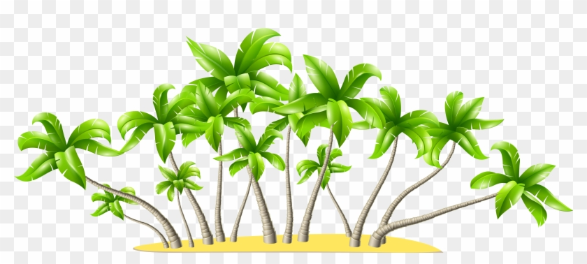 Palm Tree Clipart Tropical Flower - Palm Trees Clip Art Png #291724