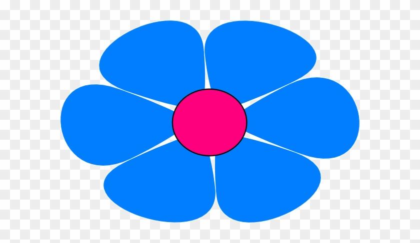 Blue Flower Power Clip Art At Clker - Clip Art #291718