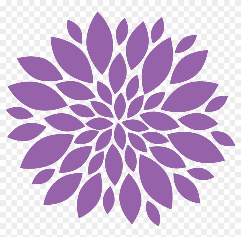 Chrysanthemum Clipart - Black And White Clip Art Flowers #291733