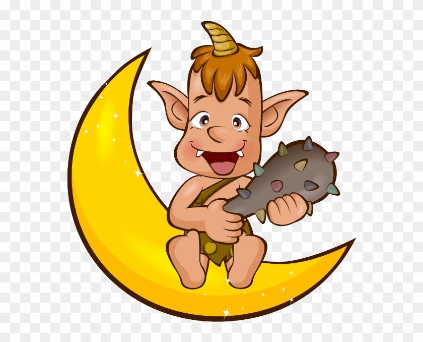 Baby Girl And Boy On Moon Cartoon Clip Art Images - Clip Art #291768
