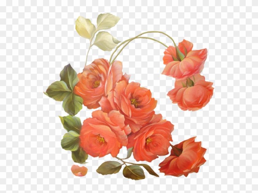 Peach Flowersdrawing - Fete Des Grand Mere Fleur #291777