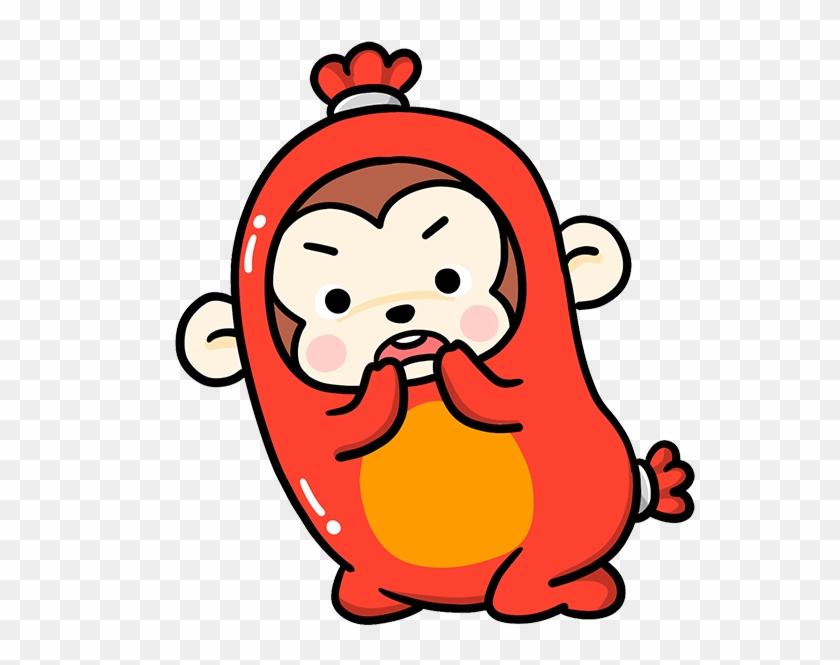 Monkey Cartoon Clip Art - Surprise #291785