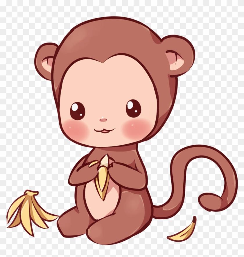 Kawaii Monkey By Dessineka - Kawaii Monkey Drawing #291807