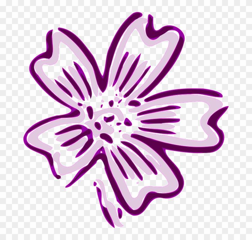 Violet Flower Cliparts 27, Buy Clip Art - Violet Flower Clip Art #291813