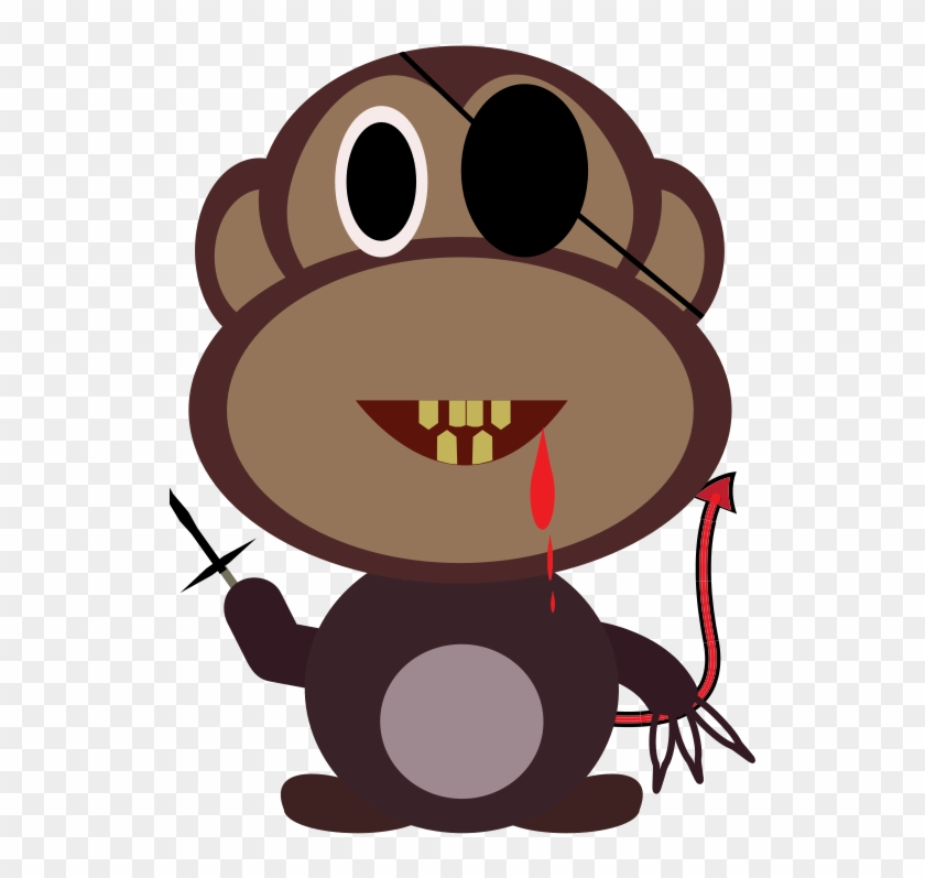 Free Monkey Killer - Evil Monkey Shower Curtain #291829