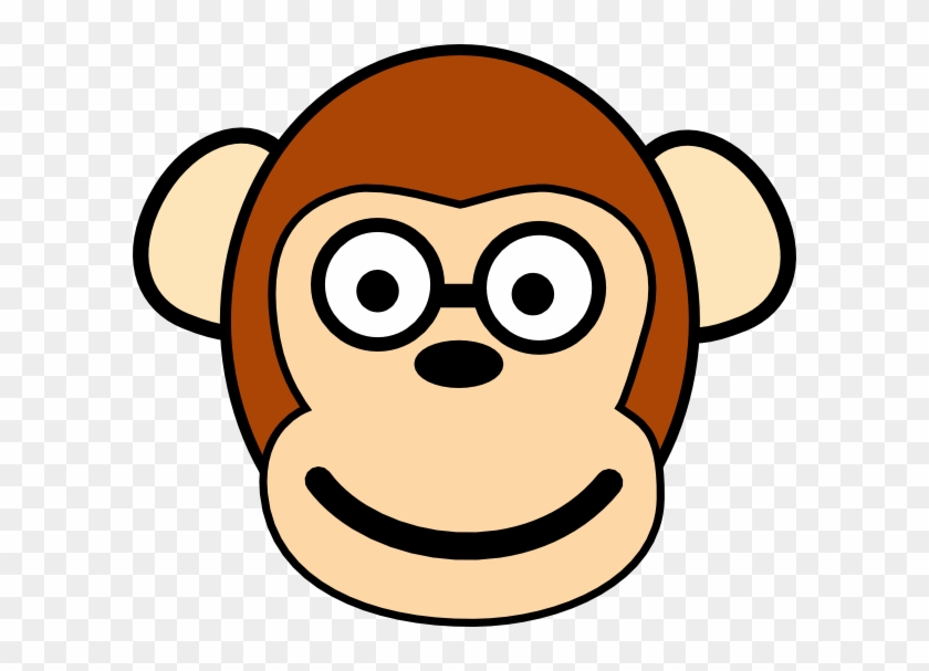 Monkey With Glasses Clip Art At Clker - Monkey Clip Art #291871