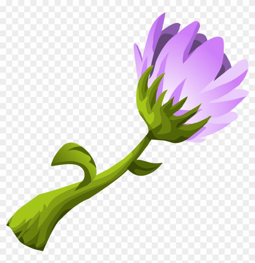 Purple Flower - Clip Art #291888
