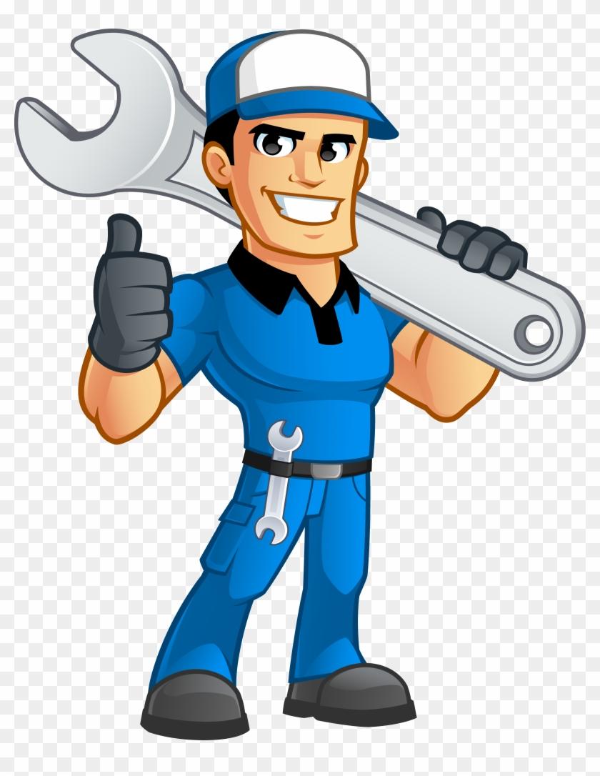 Sump Pump Repairs - Mechanic Cartoon #291884