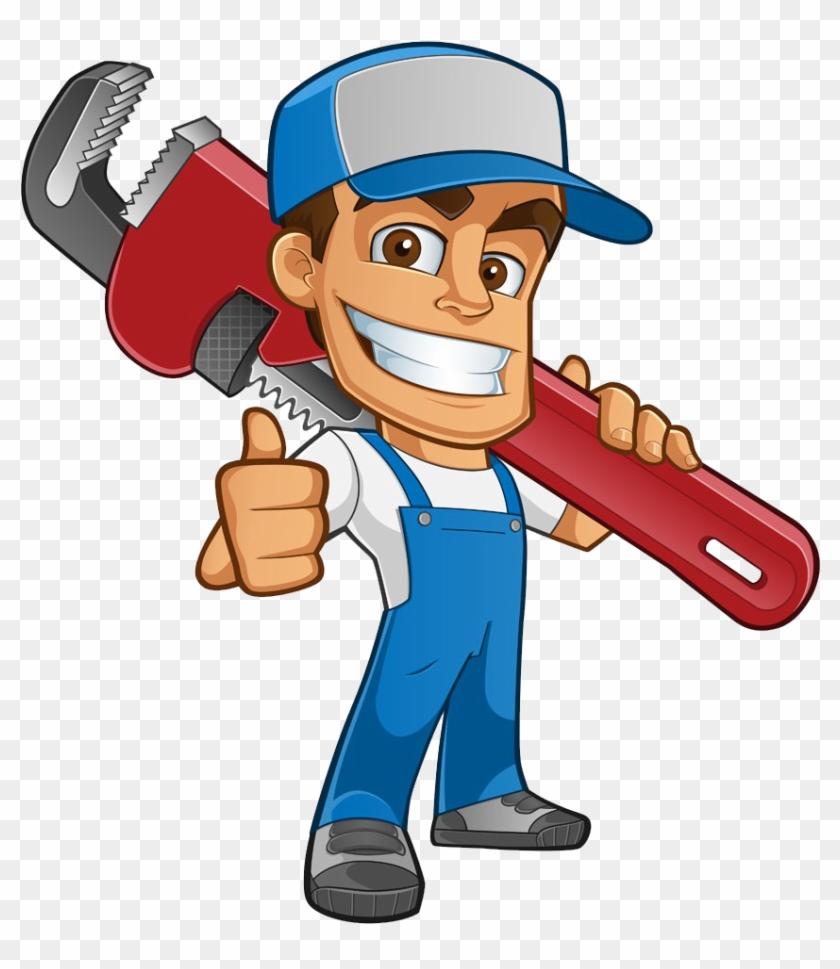 Plumber Atta-boy Plumbing Services Drain Tap - Plumber Cartoon #291886