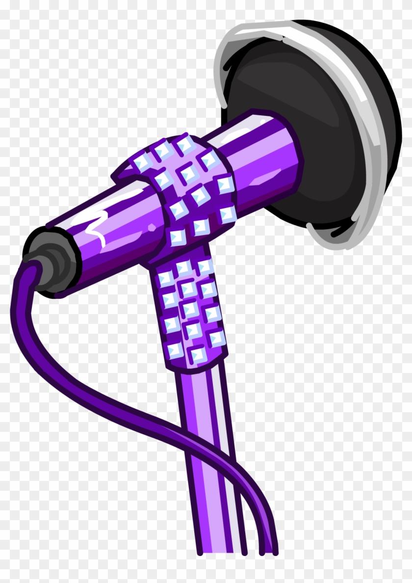 Club Penguin Glitter Microphone #291887