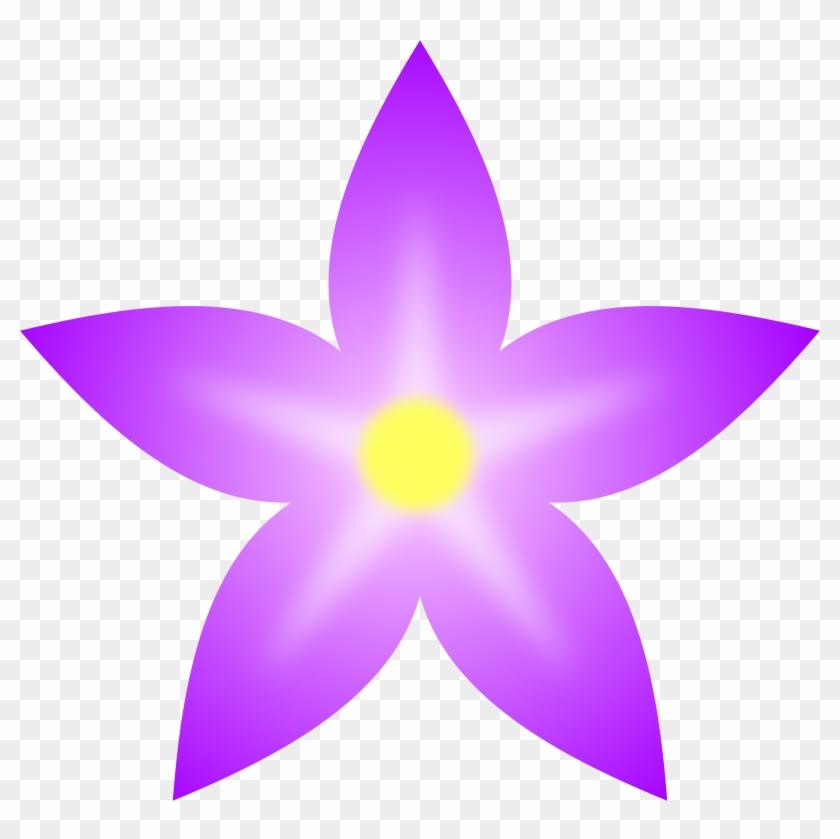 Cliparts African Violet 7, Buy Clip Art - Simple Purple Flower Clipart #291909