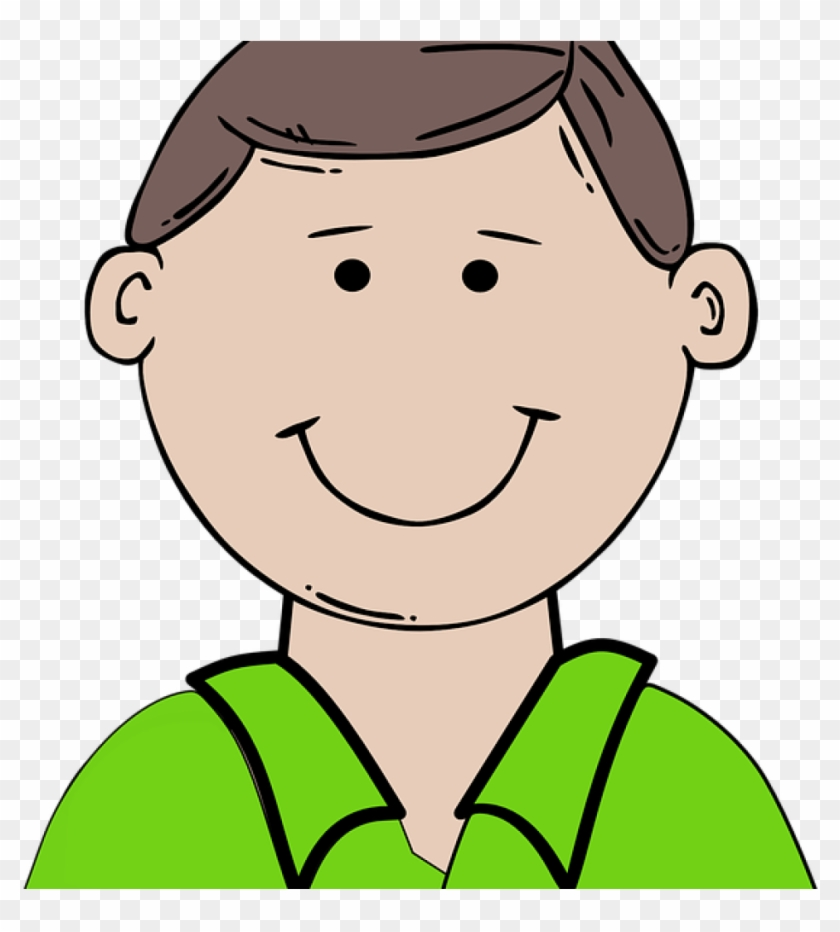 Dad Clipart Boy Happy Child Free Vector Graphic On - Cartoon Man Face #291918